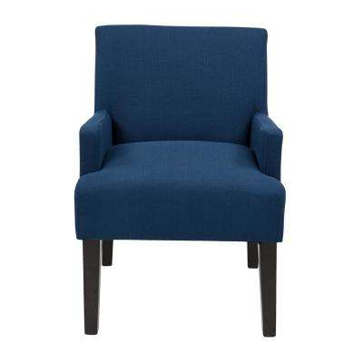 Main Street Woven Indigo Fabric Guest Chair