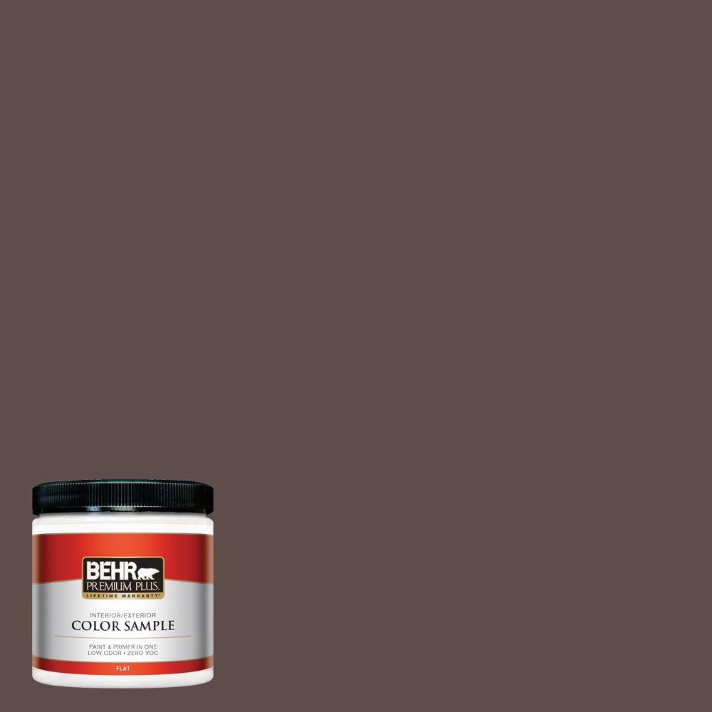 BEHR Premium Plus 8 oz. #720B-7 Spanish Raisin Interior/Exterior Paint Sample