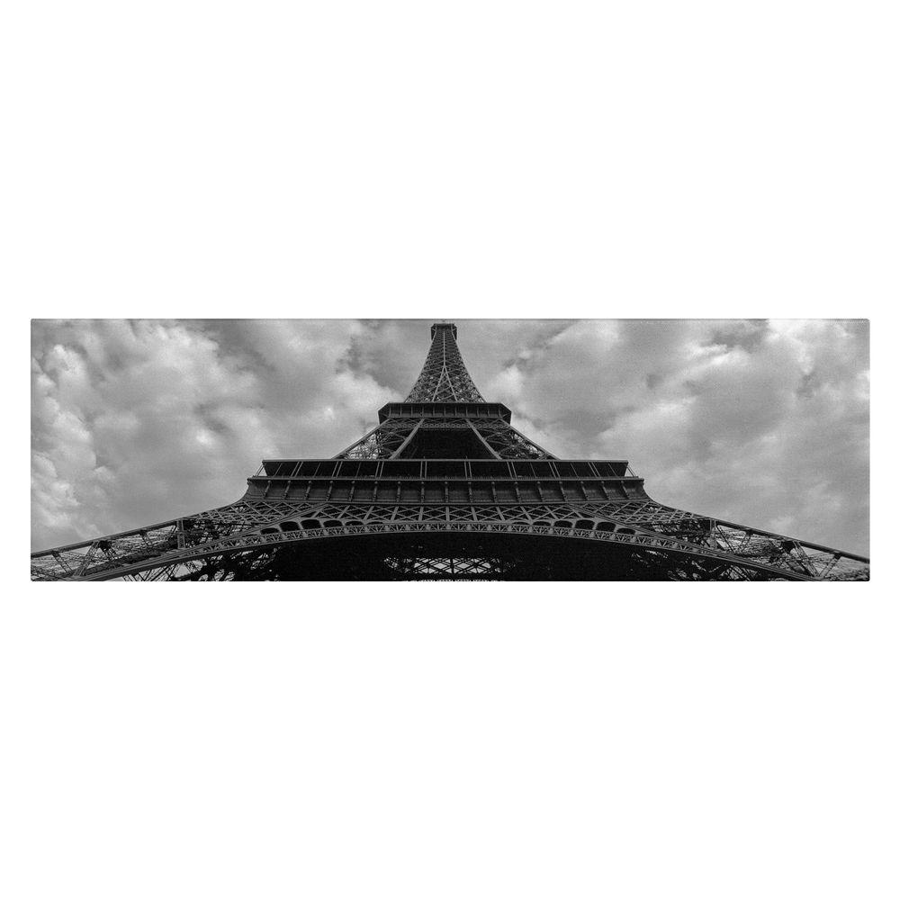 12 in. x 32 in. Eiffel Panoramica Canvas Art