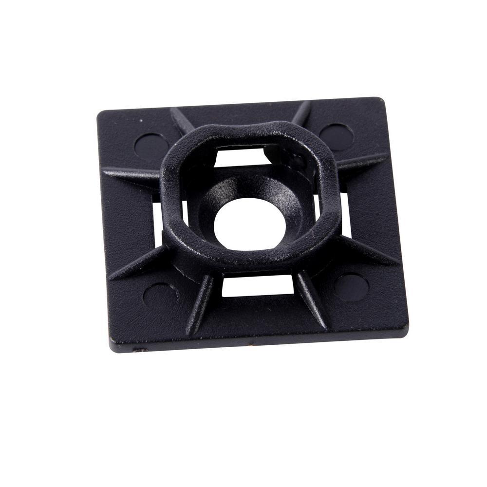 1 in. UV Mounting Base, Black (100-Pack)
