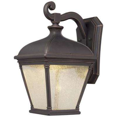 Lauriston Manor 1-Light Oil Rubbed Bronze Wall Mount with Gold Highlights