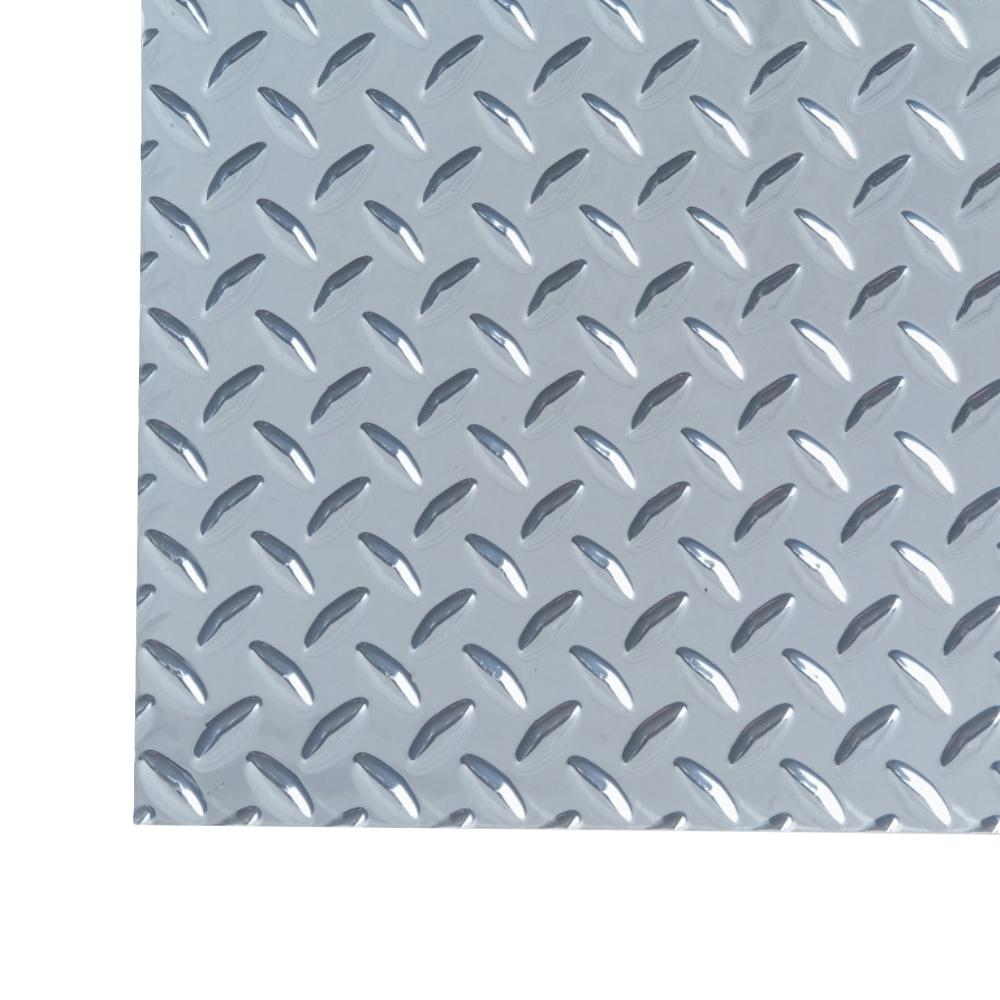 M D Building Products 1 Ft X 1 Ft Diamond Tread Light Weight Aluminum Sheet 57574 The Home Depot