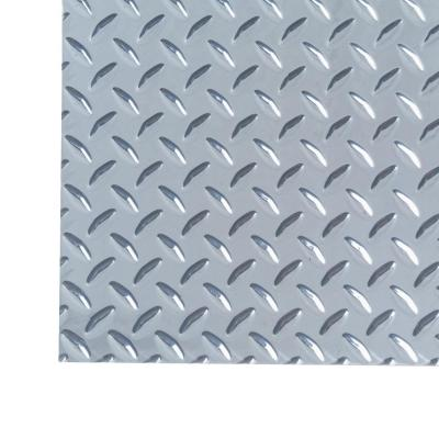 M D Building Products 12 In X 24 In X 0 025 In Diamond Tread Aluminum Sheet In Silver 57306 The Home Depot