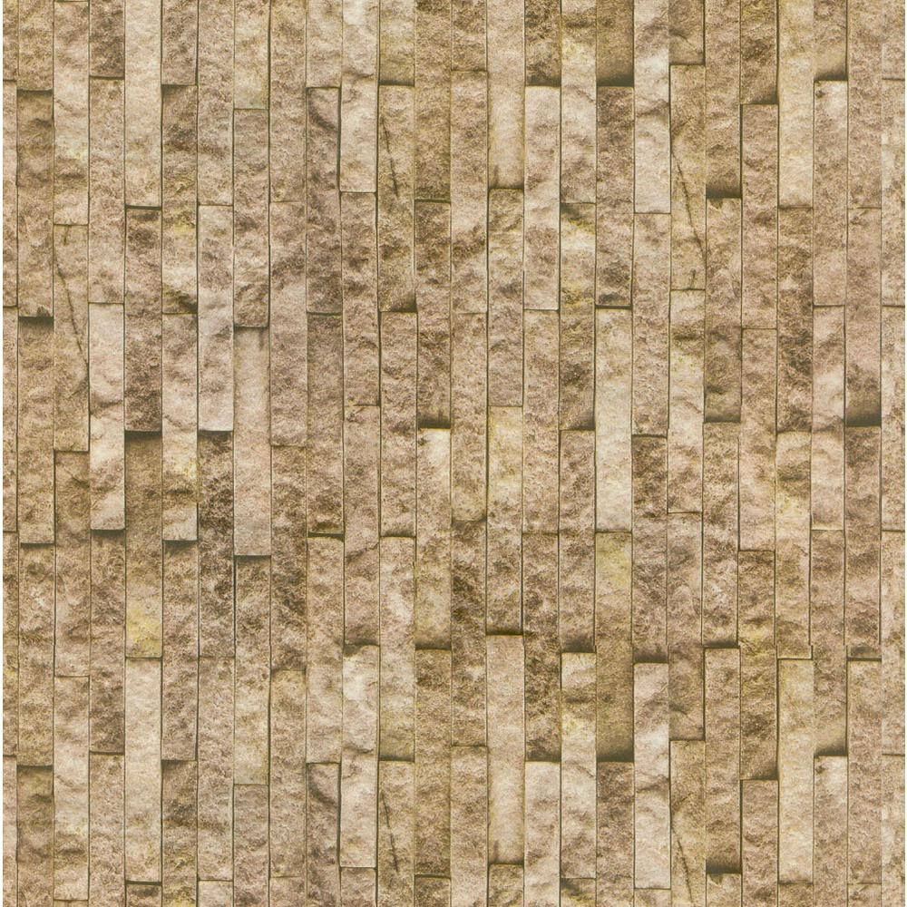 Decowall montecarlo gold brick spaccato peel and stick 3d for 3d peel and stick wallpaper