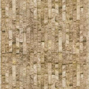 Decowall Montecarlo Gold Brick Spaccato Peel and Stick 3D Effect Self Adhesive DIY Wallpaper by Decowall