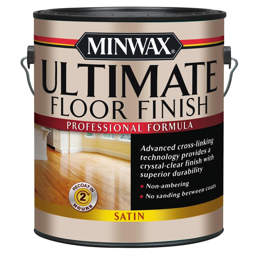 Minwax 1 Gal Ultimate Hardwood Floor Finish Clear Satin