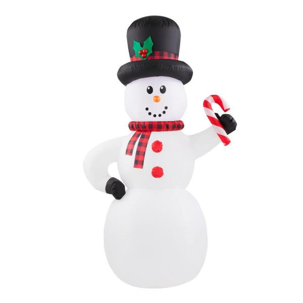 Home Accents Holiday 6 5 Ft Inflatable Snowman 117582 The Home Depot