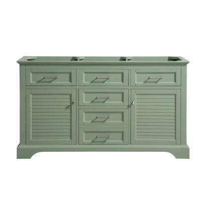 Colton 60 in. W x 21.5 in. D x 34 in. H Bath Vanity Cabinet Only in Basil Green
