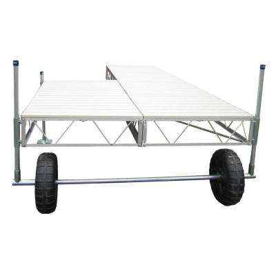 16 ft. Patio Roll-in Dock with Gray Aluminum Decking