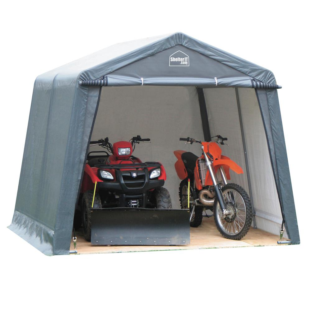 ShelterIT 12 foot x 12 foot x 8 foot Instant Garage Shed Kit without Floor