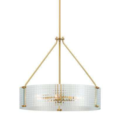 Westlyn 5-Light Brushed Brass Pendant
