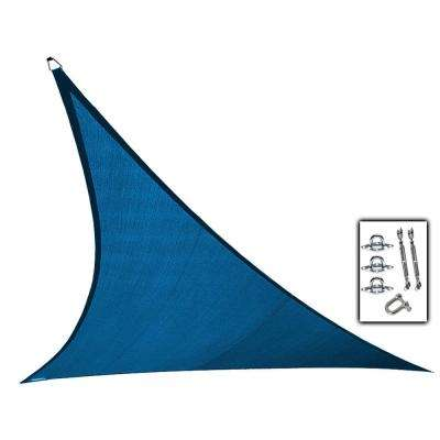 23 ft. x 23 ft. Cobalt Blue Triangle Ultra Shade Sail with Kit