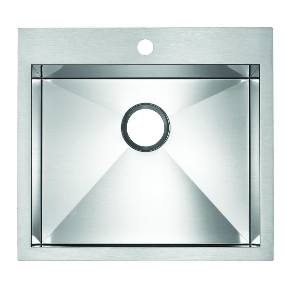 Blanco BLANCOFLOW MicroEdge 1 Hole Kitchen Sink 516348