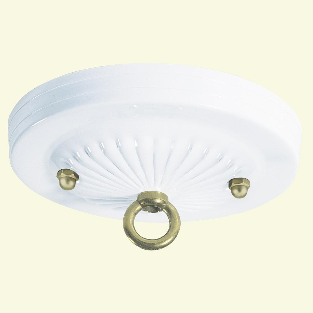 5 in. White Traditional Canopy Kit
