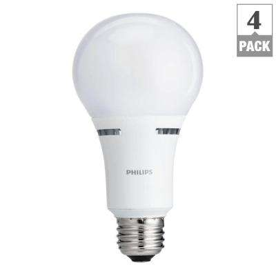100W Equivalent Soft White Household A21 Dimmable LED with Warm Glow Light Effect Light Bulb (4-Pack)