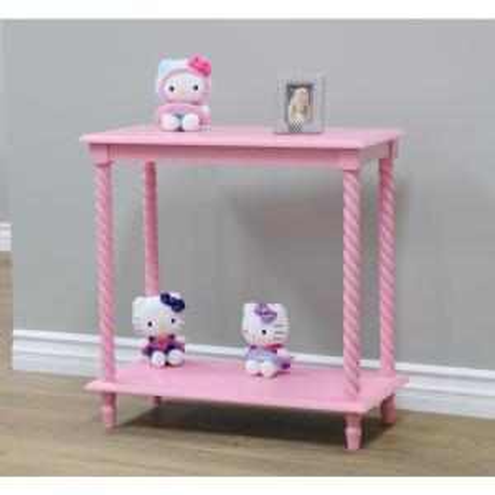 12 in. W x 24 in. D Pink Free Standing Decorative Shelf