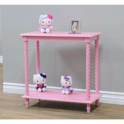 12 in. W x 24 in. D Pink Free Standing Decorative Shelf