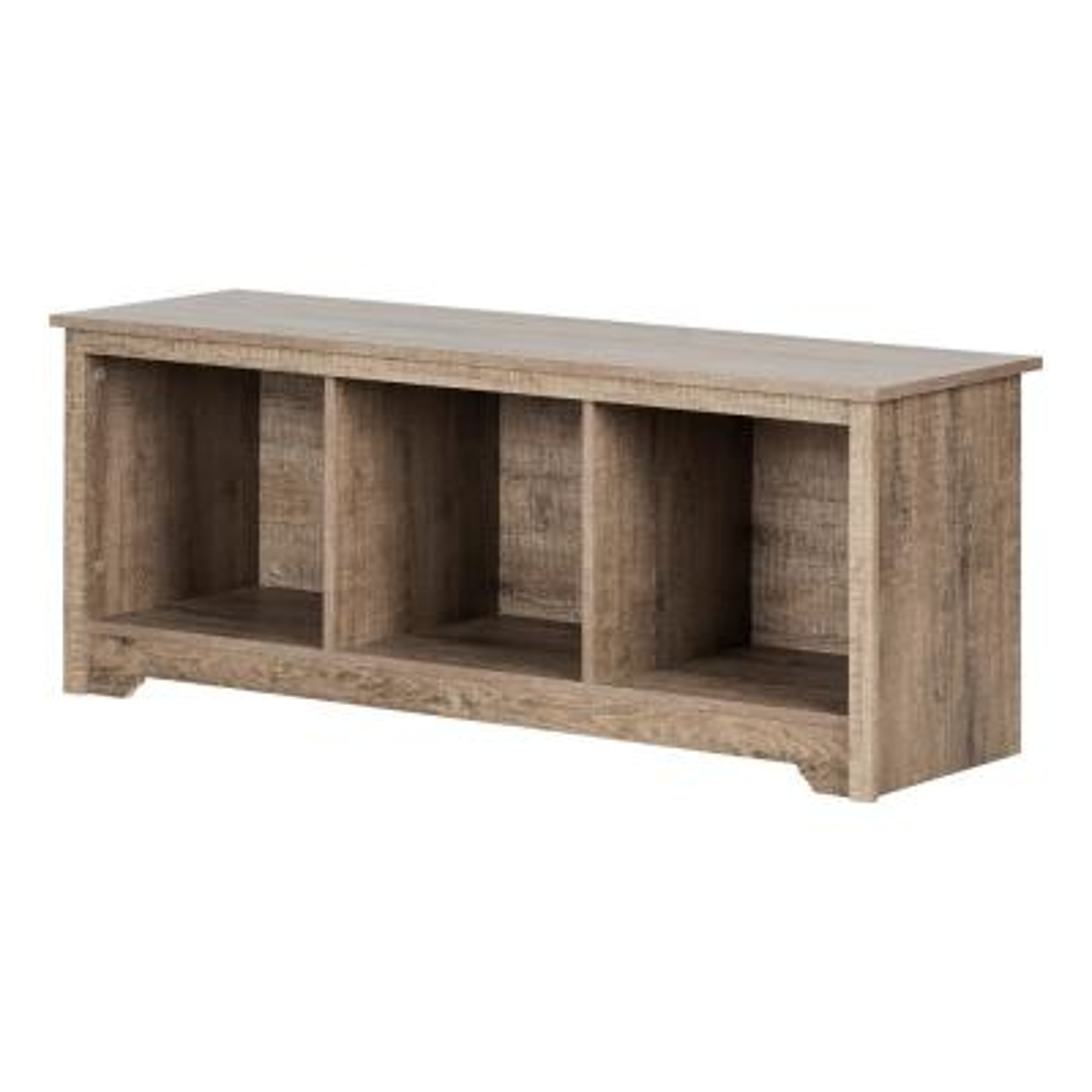 Vito Weathered Oak Storage Bench