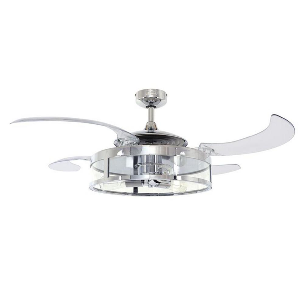 Classic 48 in. Indoor Chrome and Clear AC Ceiling Fan with