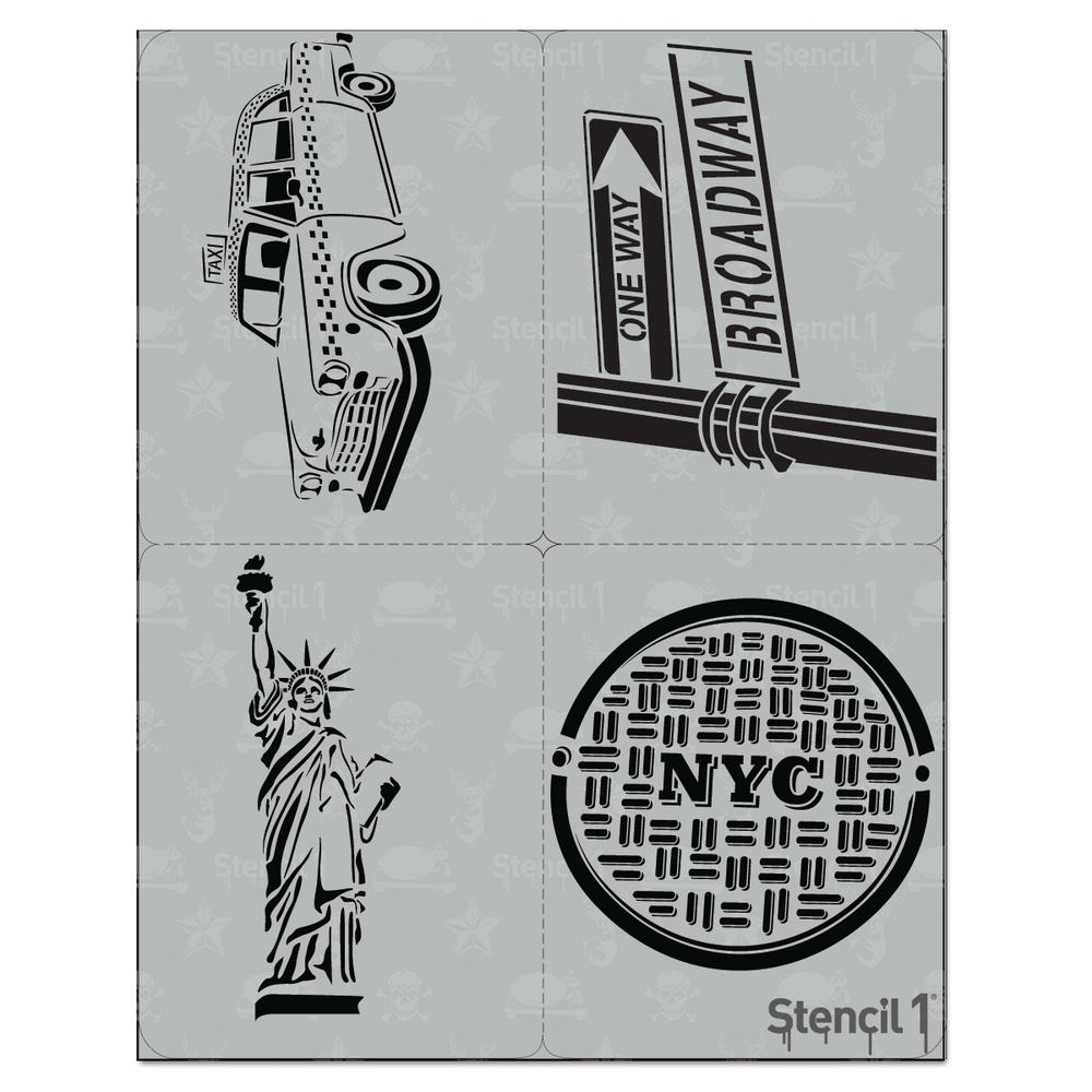 Stencil1 Nyc Stencil 4 Pack S14p15 The Home Depot
