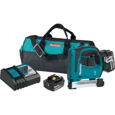 18-Volt 5.0Ah Lithium-Ion Brushless 3/8 in. Crown Stapler Kit