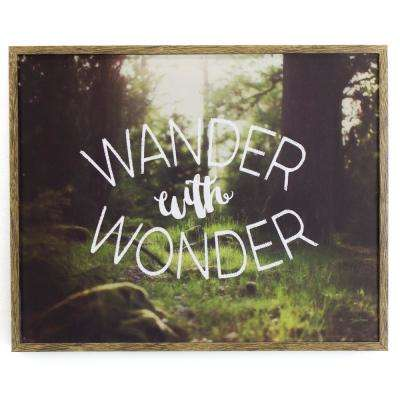"""10.5 In. W x 8.5 In. H """"Wander with Wonder"""" by KLB Framed Printed Wall Art"""