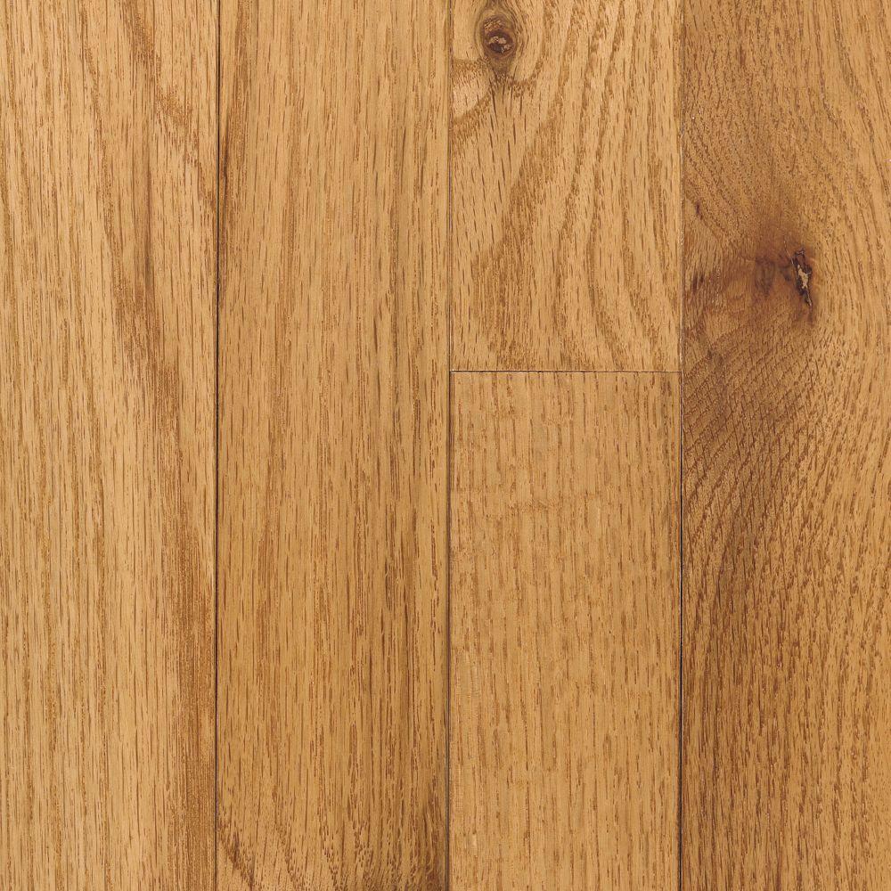 Mohawk Take Home Sample - Raymore Oak Butterscotch Hardwood Flooring - 5 in. x 7 in., Medium -  UN-223817