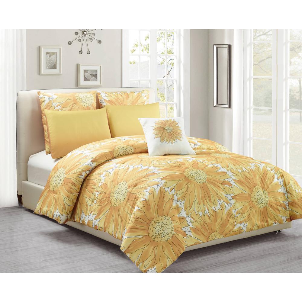 Adelphie 6-Piece Beeswax Full/Queen Comforter Set