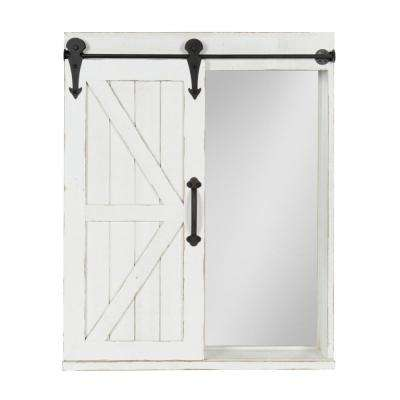 Cates Rectangle White Accent Mirror