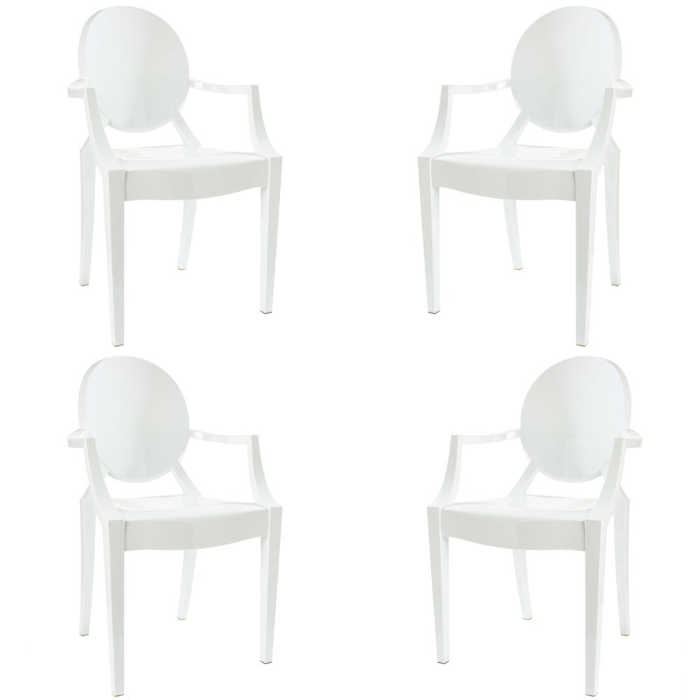 Poly and Bark Burton White Arm Chair (Set of 4) was $441.0 now $264.6 (40.0% off)