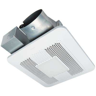 WhisperThin Pick-A-Flow 80 or 100 CFM Exhaust Fan w/LED Light, Low Profile, Ceiling or Wall and 4 in. Oval Duct Adapter