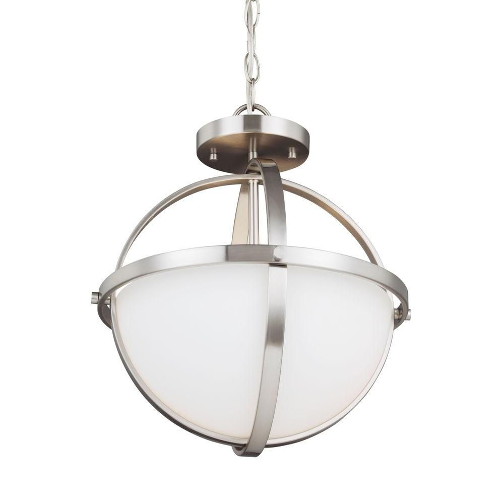 Sea Gull Lighting Alturas 2-Light Brushed Nickel Indoor