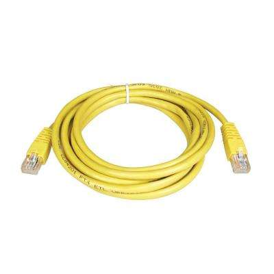7 ft. Cat5e/Cat5 350MHz Molded Patch Cable RJ45M/M, Yellow