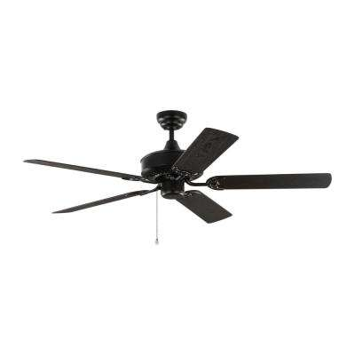 Haven 52 in. Outdoor Matte Black Ceiling Fan