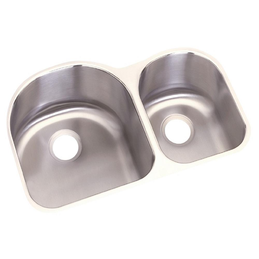 Elkay Dayton Undermount Stainless Steel 31 in. Double Bowl Kitchen ...