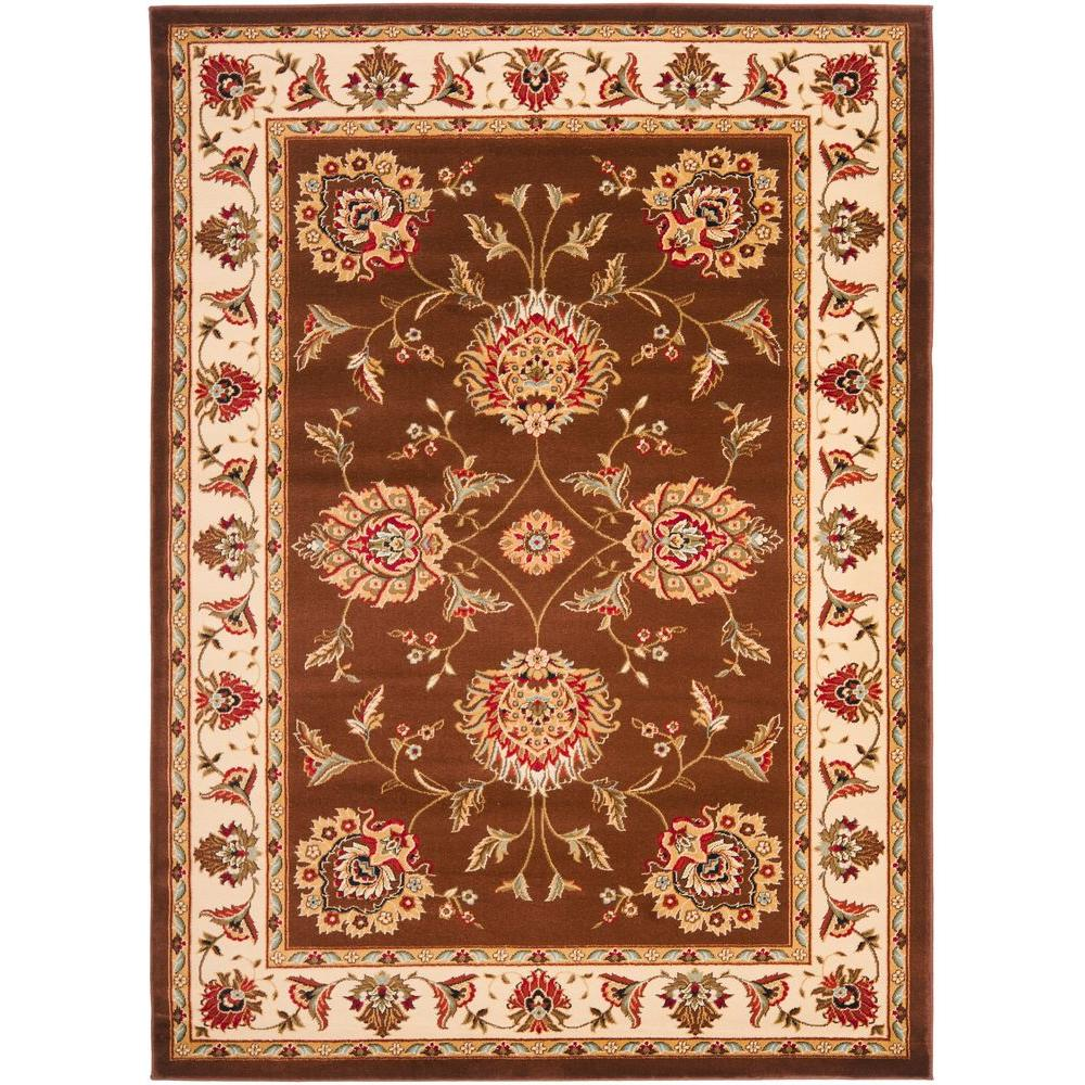 Lyndhurst Brown/Ivory 4 ft. x 6 ft. Area Rug