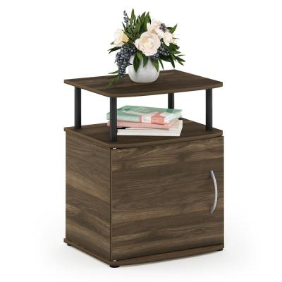 JAYA 23.98 in. Columbia Walnut/Black Utility Design End Table