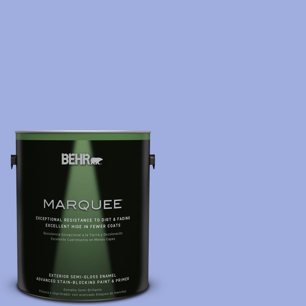 1-gal. #P540-4 Lavender Sky Semi-Gloss Enamel Exterior Paint