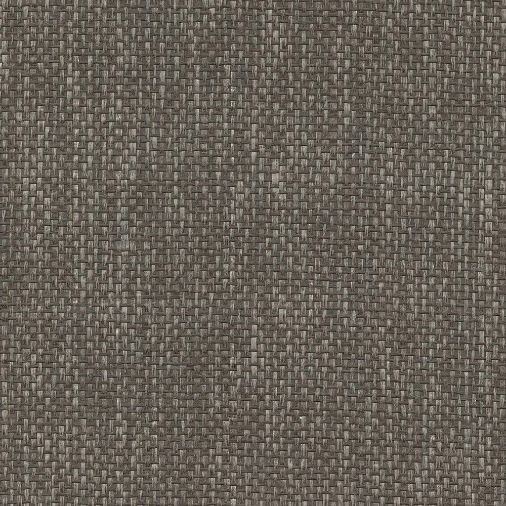 72 sq. ft. Wujiang Espresso Paper Weave Wallpaper