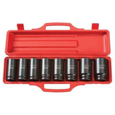 3/4 in. Drive 27-38 mm 6-Point Deep Impact Socket Set