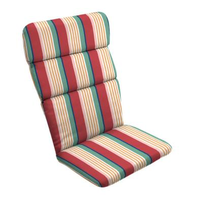 20 in. x 28.5 in. Keeley Stripe Outdoor Adirondack Chair Cushion
