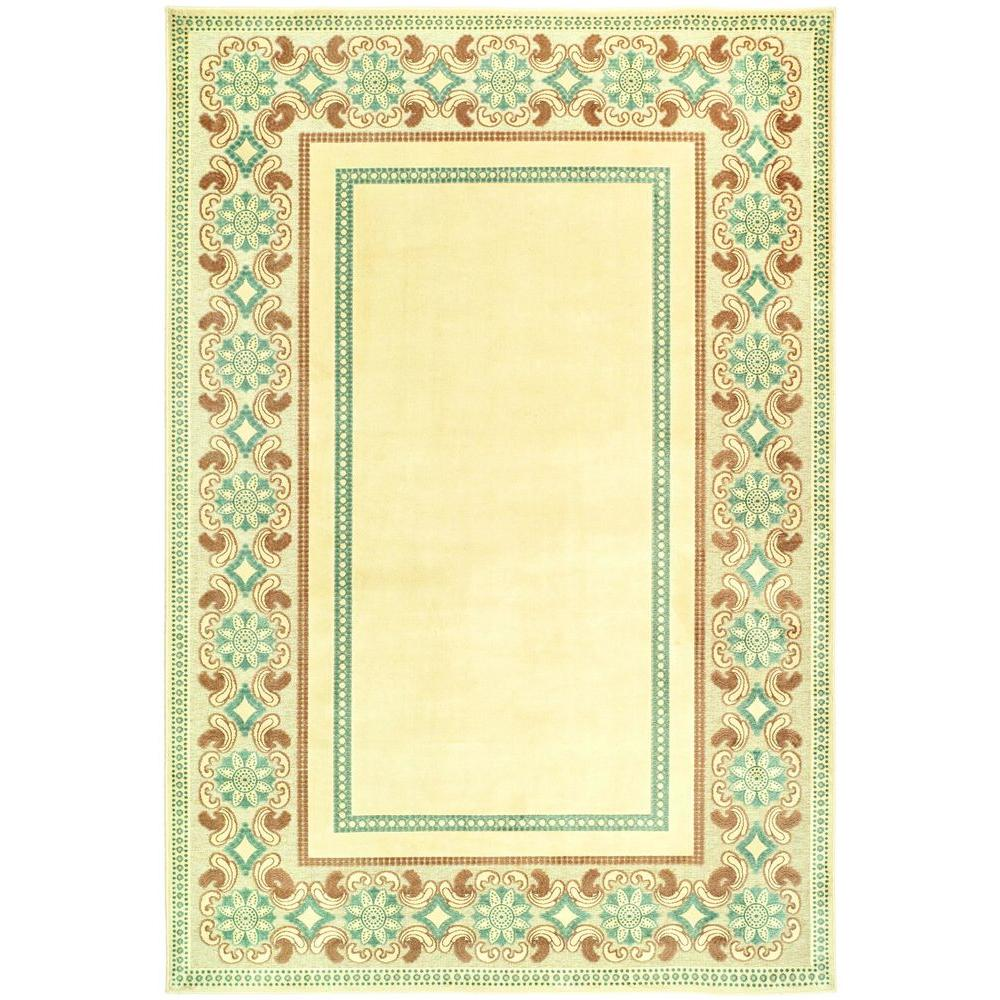 Martha Stewart Living Taj Mahal Cream 4 ft. x 5 ft. 7 in. Area Rug
