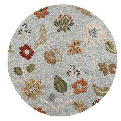 Portico Light Blue 6 ft. x 6 ft. Round Area Rug