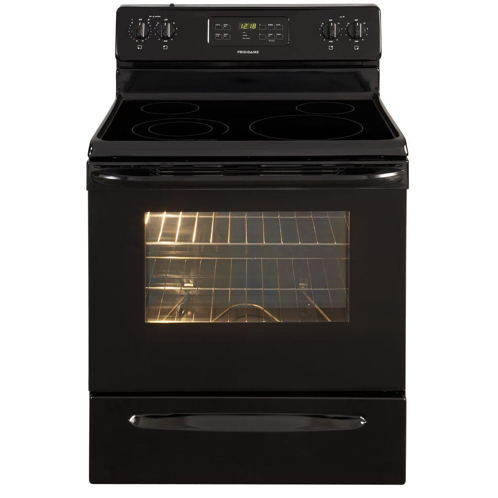 Frigidaire 30 in. 5.3 cu. ft. Electric Range with Self-Cleaning Oven in Black