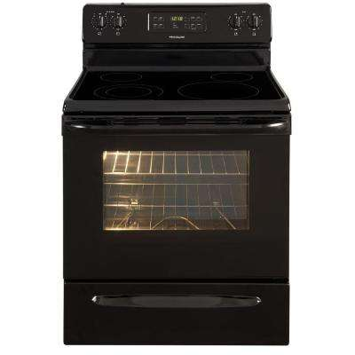 30 in. 5.3 cu. ft. Electric Range with Self-Cleaning Oven in Black
