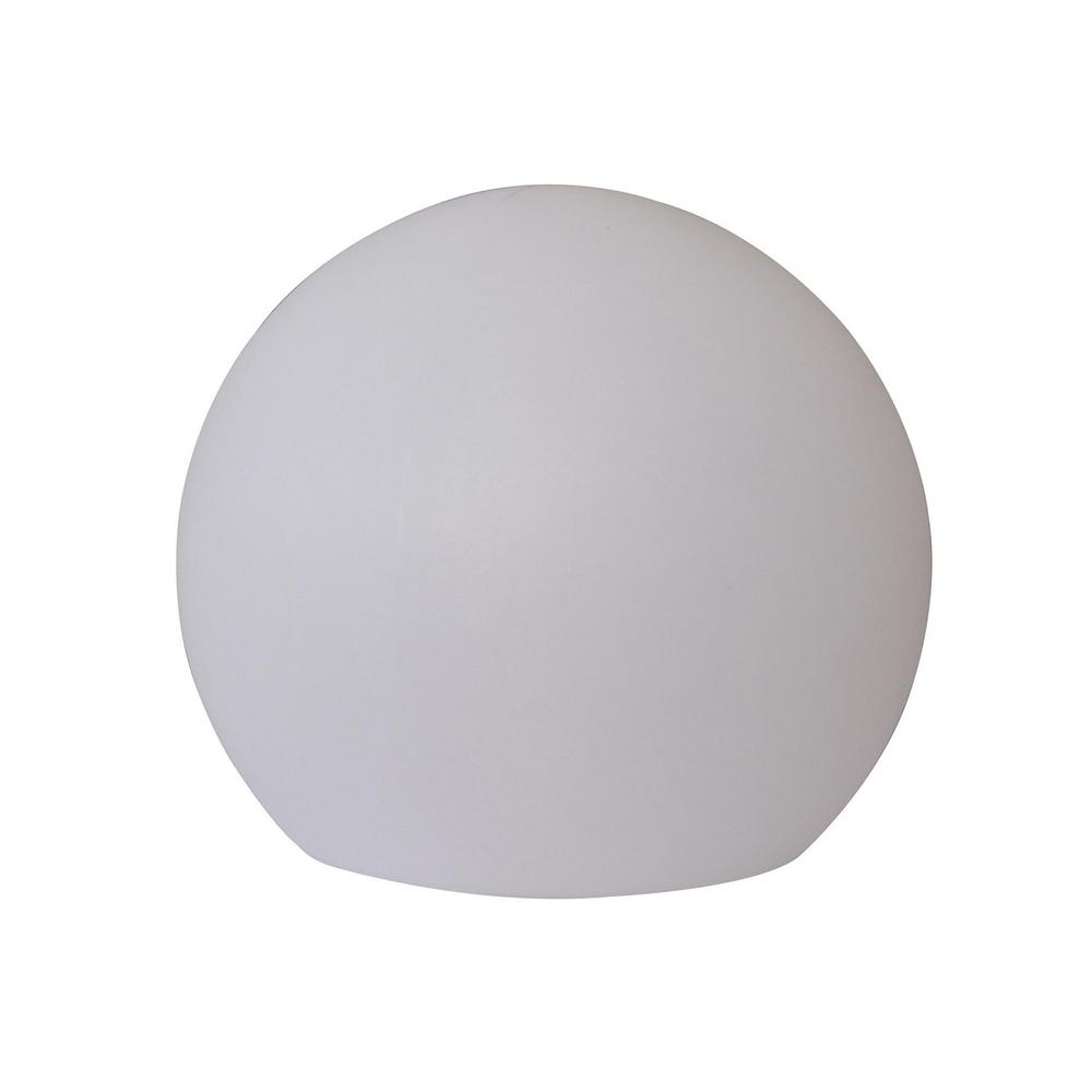 16 in. White Multicolor Outdoor Globe Flat Bottom Lamp