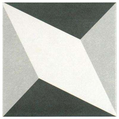 Twenties Diamond 7-3/4 in. x 7-3/4 in. Ceramic Floor and Wall Tile