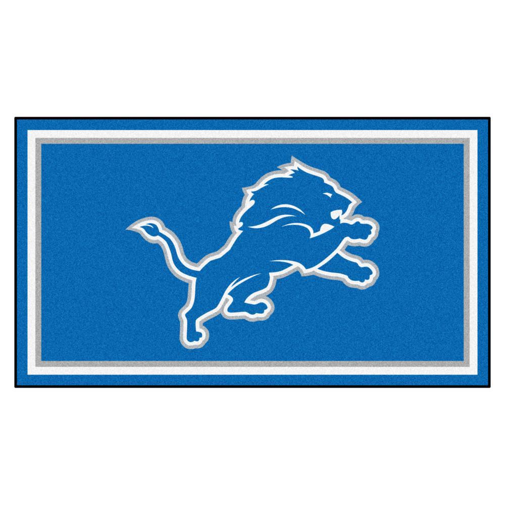 35814814 FANMATS NFL - Detroit Lions 3 ft. x 5 ft. Ultra Plush Area Rug