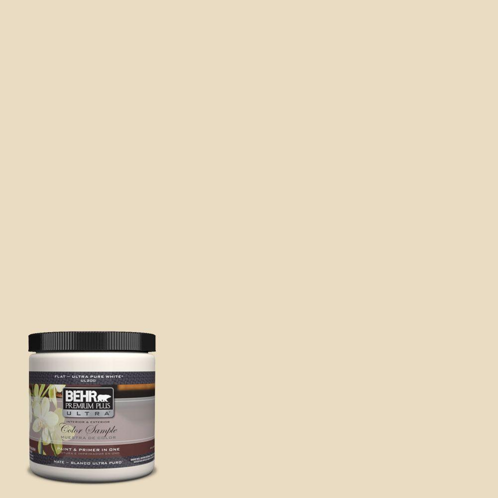 BEHR Premium Plus Ultra 8 oz. #22 Navajo White Matte Interior ...