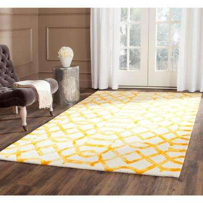 Dip Dye Ivory/Gold 9 ft. x 12 ft. Area Rug